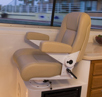 Helmchair & Stidd Helm Chairs. Oh so comfy! | Back Cove Yachts