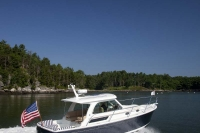 Back Cove 30 cruises Sassanona river