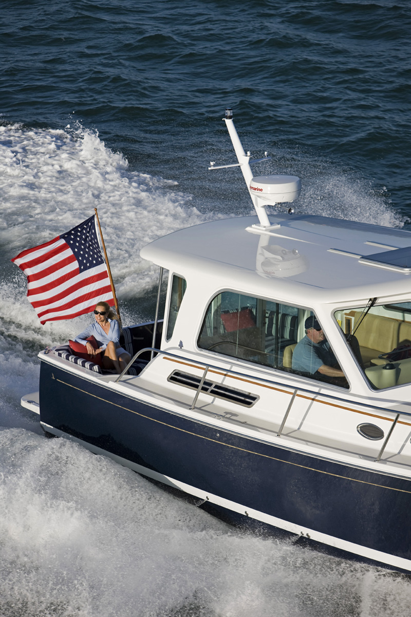 37 Foot Downeast Style Powerboat Back Cove Yachts