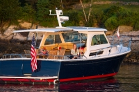 Back Cove Downeast 37 at rest in Portland, Maine.