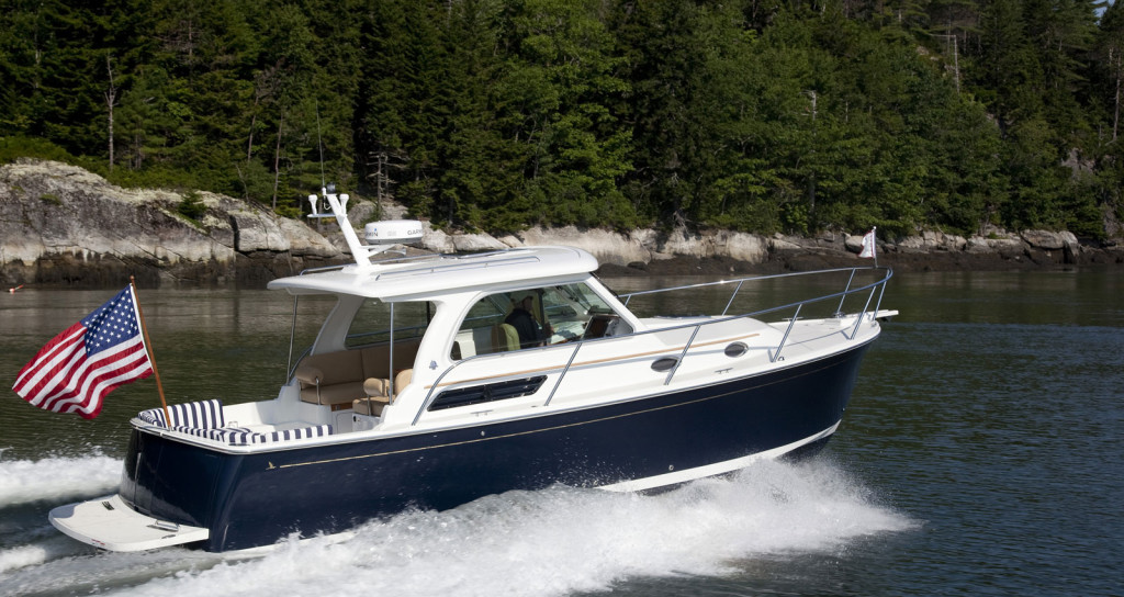 Back Cove 30 Down East Style Power Boat Crafted In Rockland Maine Back Cove Yachts
