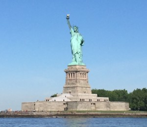 "Of course the Statue of Liberty or as most Germans might prefer,  ""of Liverwurst"""