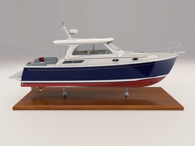 Optional Equipment For The Back Cove 32 Power Boat Built