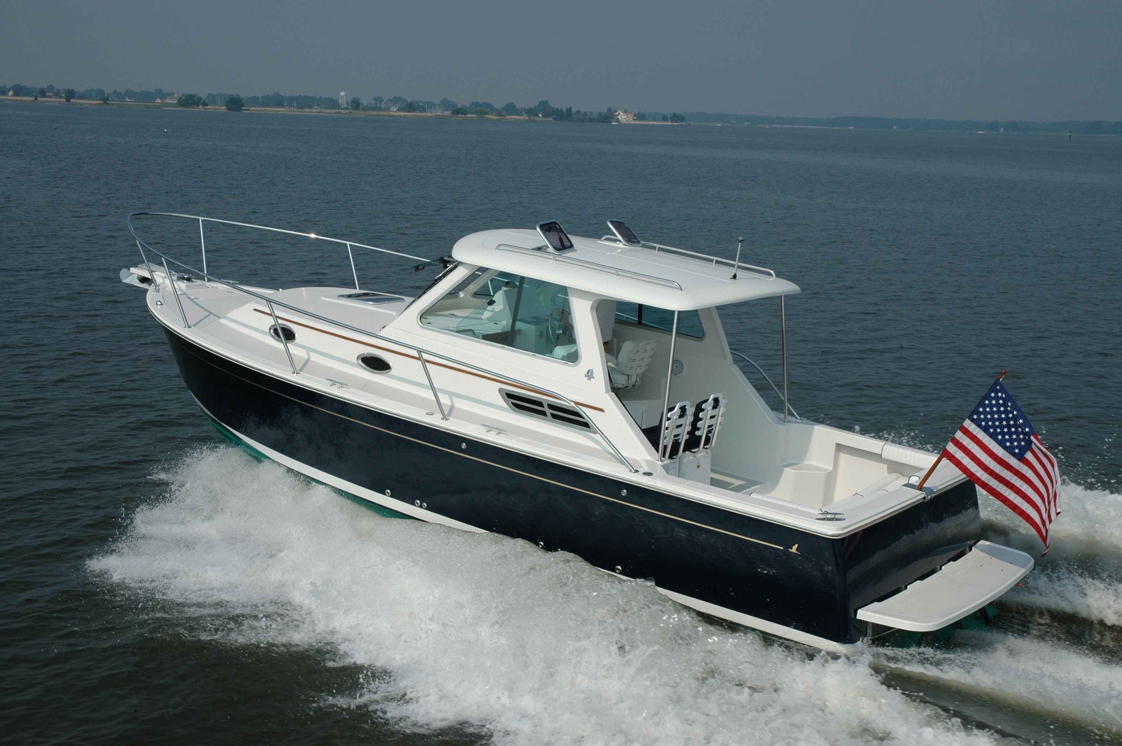Press images of Back Cove Yachts. Down east lobster boats